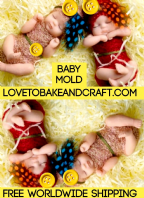 Polymer baby mold, Polymer baby mould, OOAK baby, baby mould, baby mold, fimo  baby, sculpey baby, Free worldwide shipping. (1) (4)